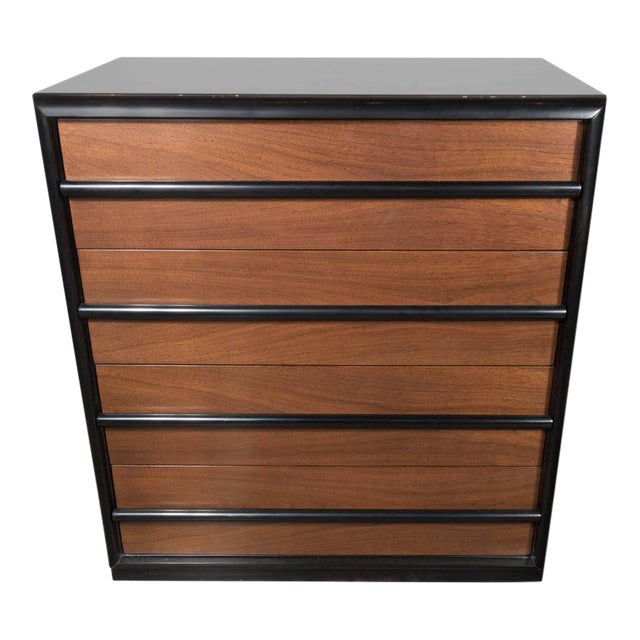 Sophisticated Mid-Century High Chest by Robsjohn-Gibbings for Widdicomb Company For Sale