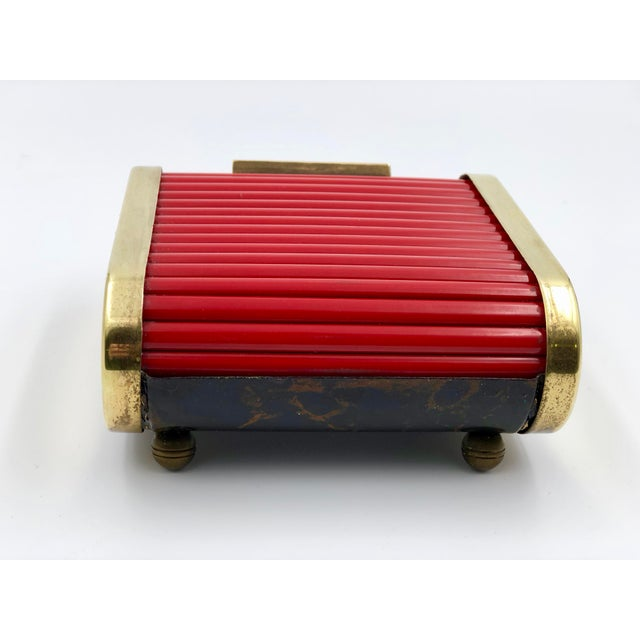 Early 20th Century American Art Deco industrial desk storage caddy or cigarette holder by Park Sherman. The box has a...