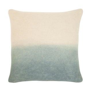 """Modern Burnt Gray Ombre Wool Felt Pillow - 22x22"""" For Sale"""