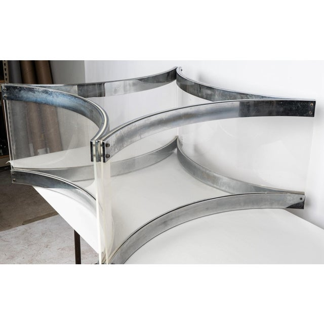Mid-Century Modern Mid Century Modern Alessandro Albrizzi Chrome & Lucite Coffee Cocktail Table - Judith Krantz Estate For Sale - Image 3 of 7
