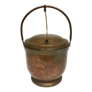 Early 20th Century Antique Copper Poole Silver Company Ice Bucket For Sale