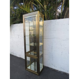 Hollywood Regency Tall Narrow Display Cabinet Bookcase by Mastercraft Preview