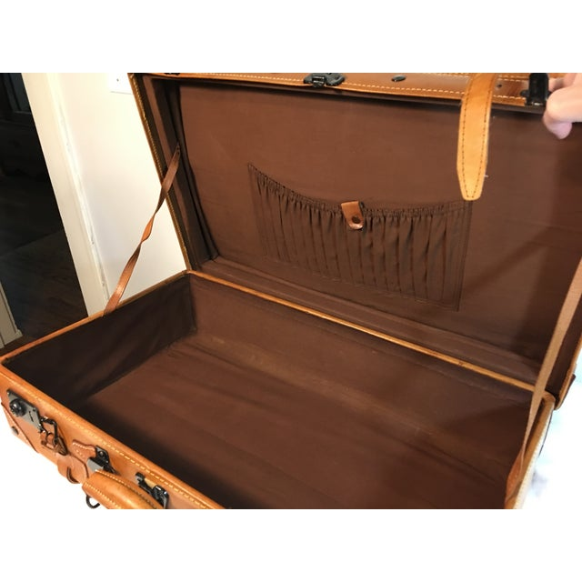 Vintage Leather Suitcase - Image 4 of 8