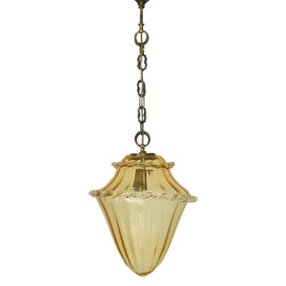 20th Century Italian La Murrina Amber Lantern For Sale
