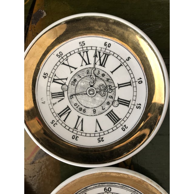 "Set of four 4"" clock face coaster by the Milano, Italy firm of Bucciarelli."