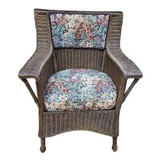 Edwardian Karpen & Bros Handwoven Gentlemans Armchair For Sale