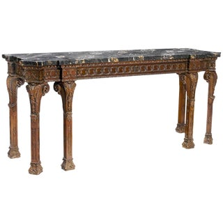 George III Style Carved Console, 19th Century For Sale