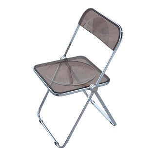 1970s, 'Plia' Stacking Chair by Giancarlo Piretti for Castelli — Smoked For Sale