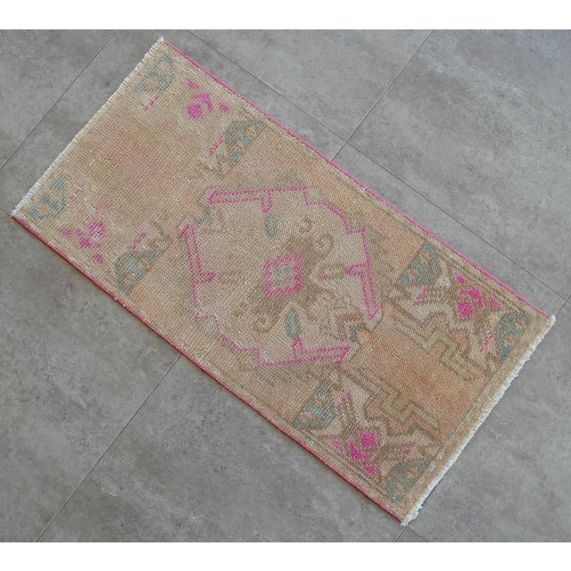 Distressed Low Pile Turkish Yastik Rug For Sale In Raleigh - Image 6 of 6