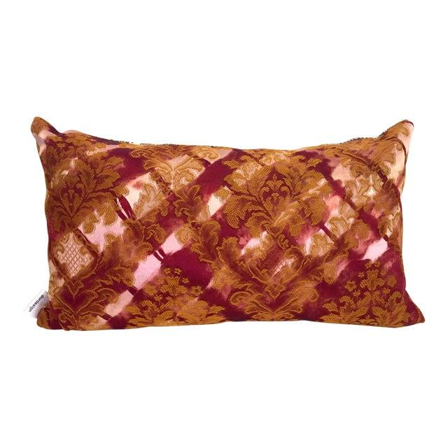 Modern Tie Dye Brocade Pillow For Sale