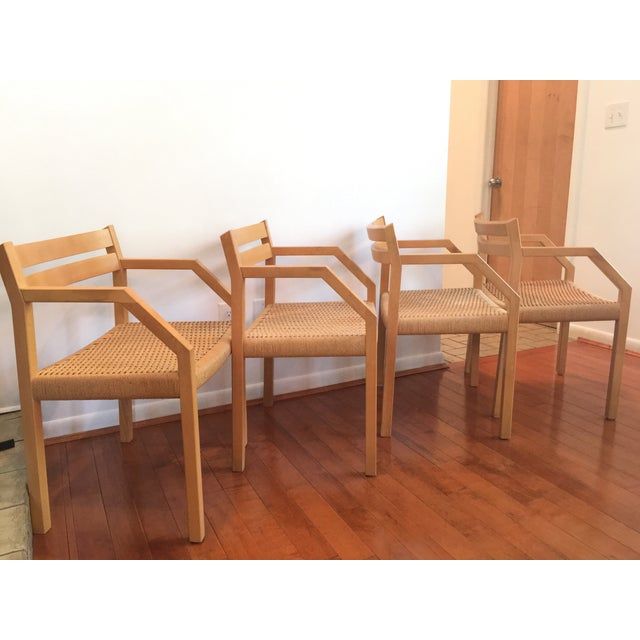 J. L. Moller Model #404 Birch Chairs - Set of 4 For Sale - Image 7 of 8