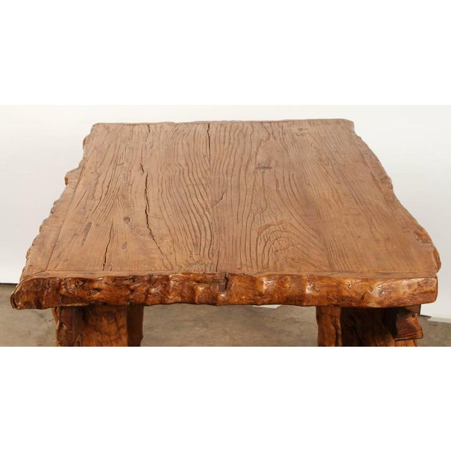 """Wood Chinese Rustic """"Root"""" Table For Sale - Image 7 of 9"""