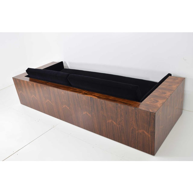 Mid-Century Modern Milo Baughman for Thayer Coggin Rosewood Case Sofa in Maharam Mohair For Sale - Image 3 of 13