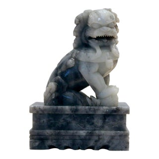 Carved Soapstone Foo Dog For Sale