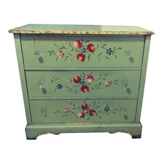1920s Antique Hand-Painted Dresser For Sale