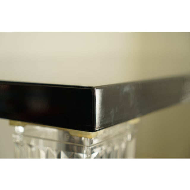 "Transparent Contemporary Kartell ""Top Top"" Black Gloss Dining Table For Sale - Image 8 of 13"