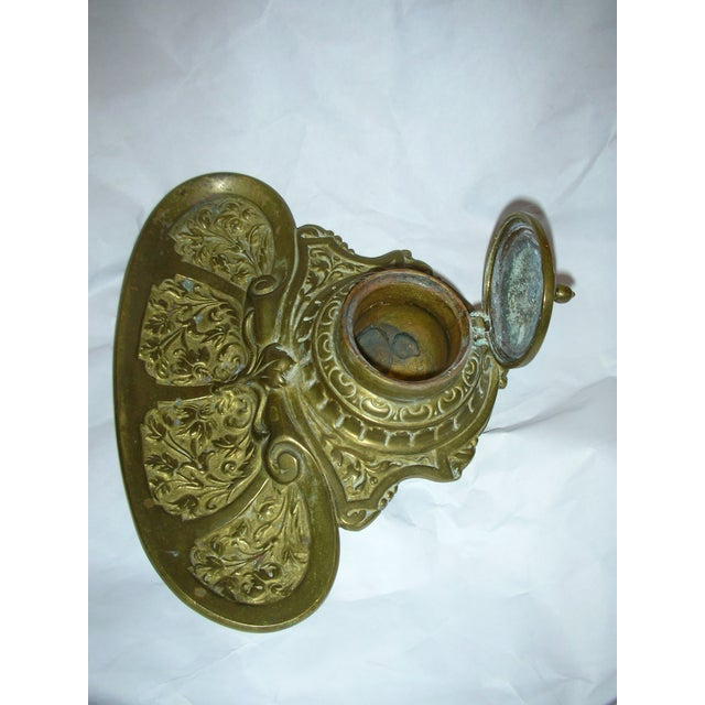 Ornate Brass Inkwell - Image 4 of 5