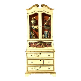 20th Century French Maison Jansen Hand Painted Secretary Desk For Sale