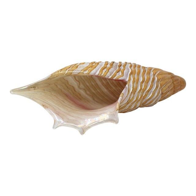 Vintage Murano Glass Sea Shell For Sale