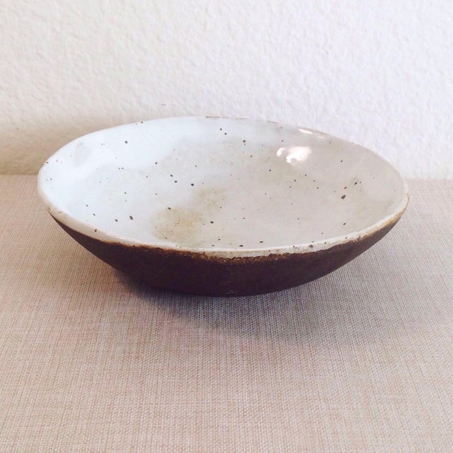 Boho Chic Speckled Stoneware Soup Bowl For Sale - Image 4 of 9