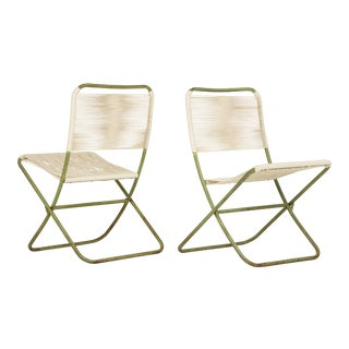1950s Greta Grossman Folding Chairs - a Pair For Sale