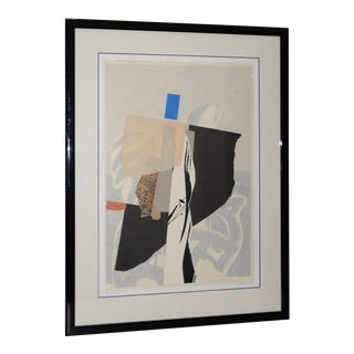 Late 20th Century Mixed Media Abstract on Paper by H. Munson C.1986 For Sale