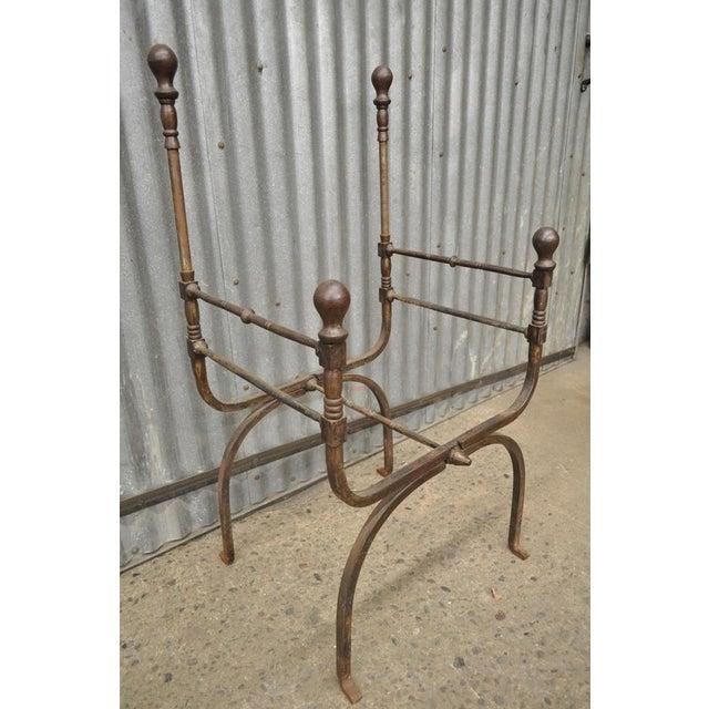 Italian renaissance iron savonarola campaign style folding for Buy iron throne chair