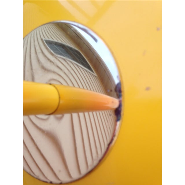 Yellow Mid Century Modern Bullet Floor Lamp - Image 11 of 11