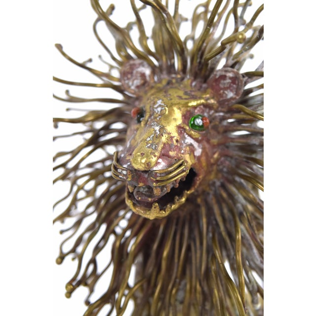 Metal Pal Kepenyes Modernist Brutalist Brass Lion Sculpture Mexican Hungarian Artist For Sale - Image 7 of 10