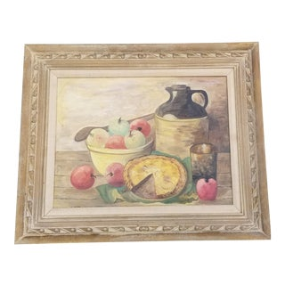 1950s Still Life Oil Painting For Sale