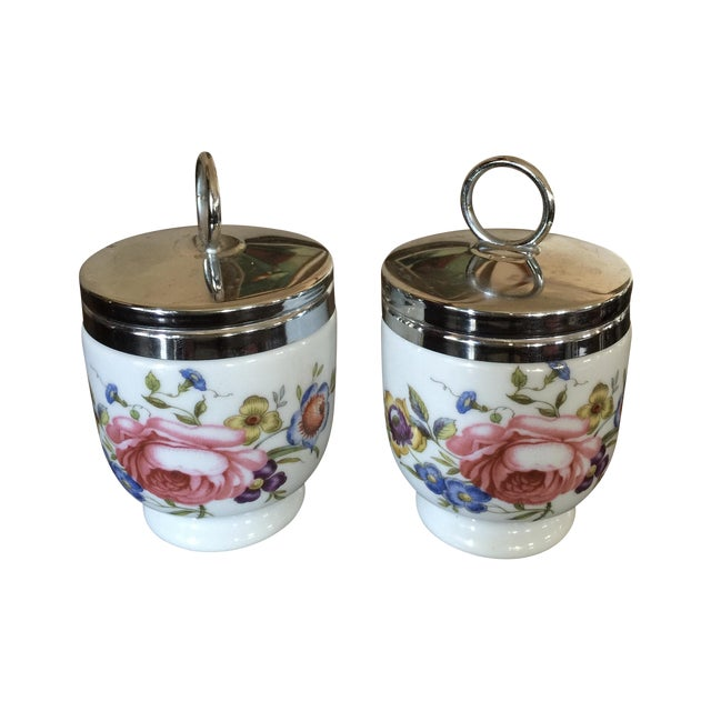 Vintage Royal Worcester Egg Coddlers - Pair - Image 1 of 5