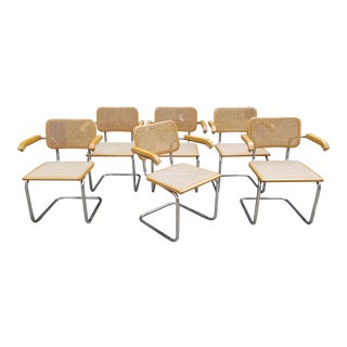 Marcel Breuer Cesca Dining or Conference Chairs. Set 6 For Sale