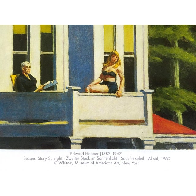 "Paper Edward Hopper Vintage 1999 Lithograph Calendar Print "" Second Story Sunlight "" 1960 For Sale - Image 7 of 9"