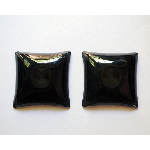 Early 20th Century 20th Century Hollywood Regency Bent Glass Butter Pats - a Pair For Sale - Image 5 of 6