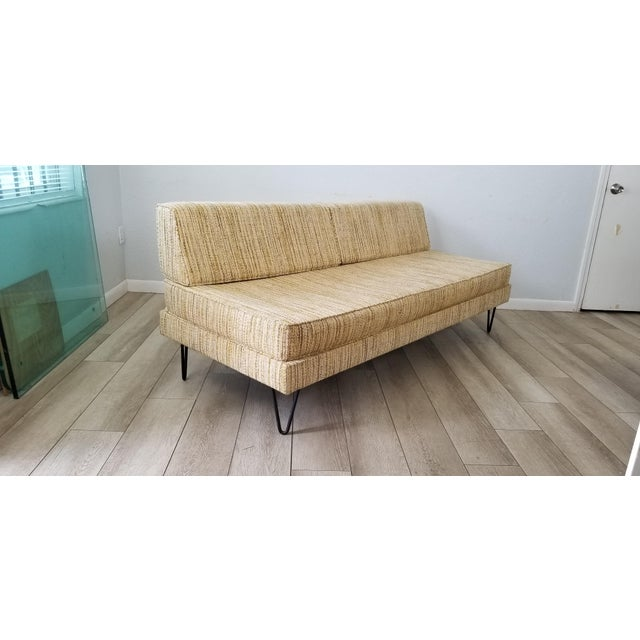 George Nelson for Herman Miller Convertible Daybed Sofa With Hairpin Legs . For Sale - Image 13 of 13