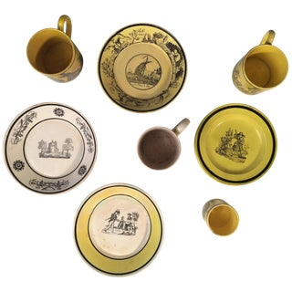 Creil Demitasse Cups and Saucers, 19th Century For Sale