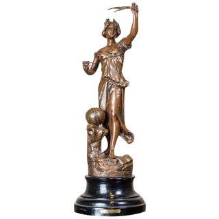 20th Century Zamak Figurine, Auguste Moreau For Sale