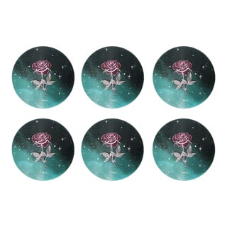 Limited Edition Sacramento Rosa Mats Set of 6 For Sale