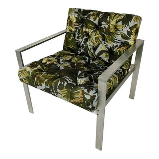 House of Hackney Limerence Fabric Harvey Probber Aluminum Lounge Chair No. 1427a For Sale