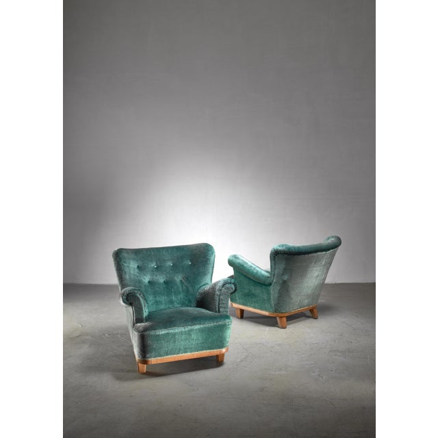 1940s Pair of Swedish Easy Chairs, 1940s For Sale - Image 5 of 5