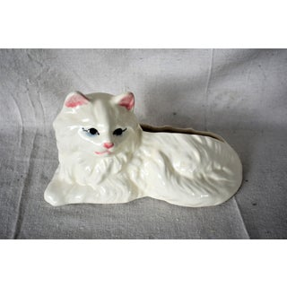 Mid-Century White Cat Cachepot Preview
