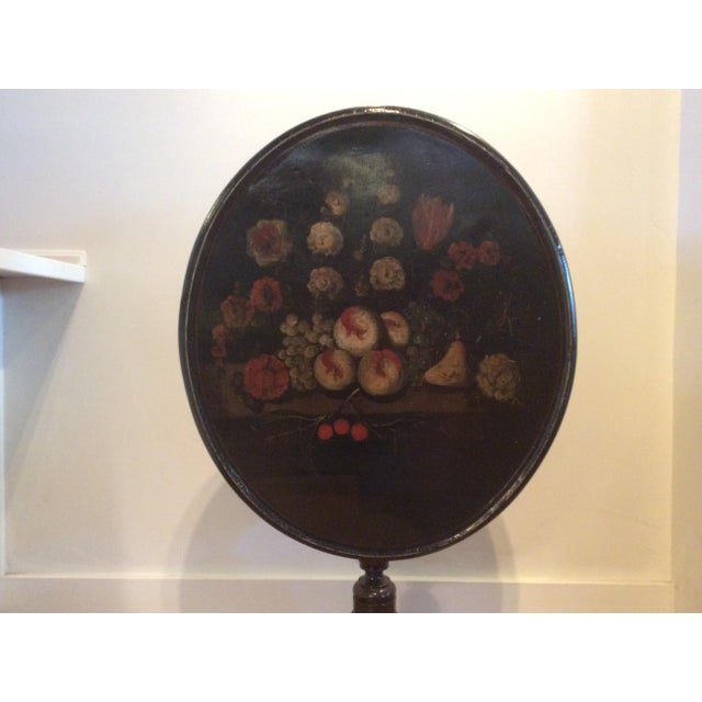 18th Century Dutch Tilt Top Table With Still Life - Image 10 of 11