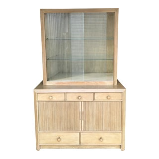 Paul Frankl Designed Mid-Century Modern Cabinet and Hutch