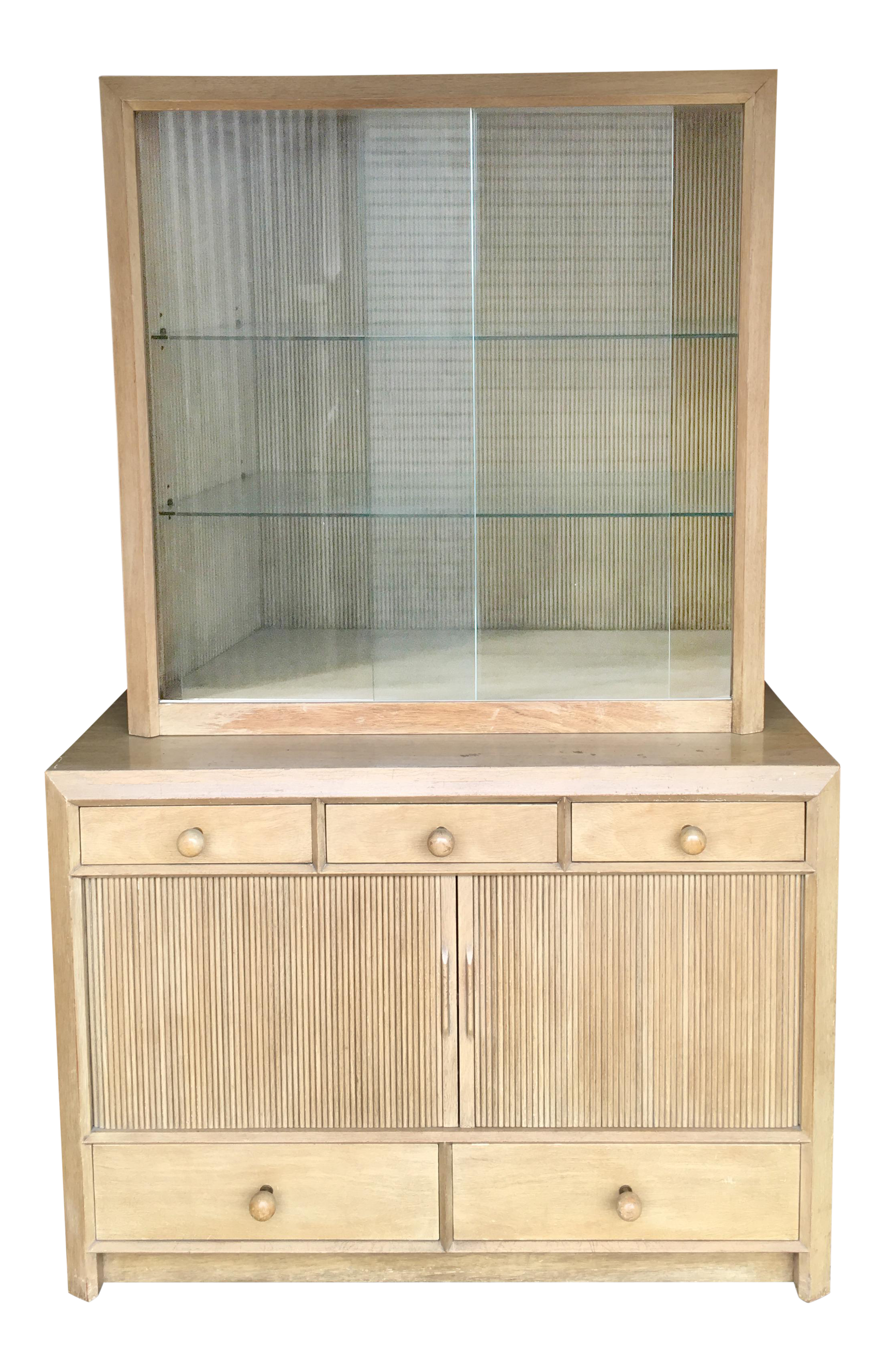 Paul Frankl Designed Mid Century Modern Cabinet And Hutch