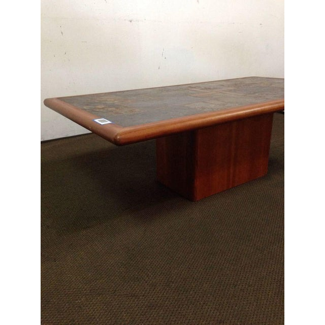 Mid-Century Carved Walnut Coffee Table - Image 3 of 5