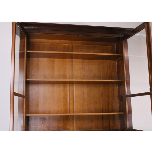 Wood Grange French Cherry Louis Philippe Style Bookcase Cabinet For Sale - Image 7 of 13