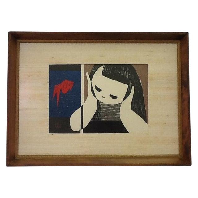 Vintage Kaoru Kawano Block Print - Image 1 of 8