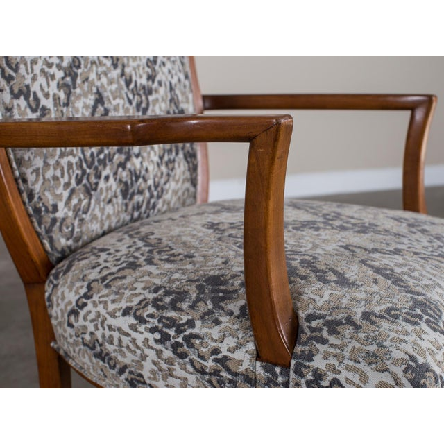 Beech 1940s Vintage French Art Deco Beechwood Chairs - a Pair For Sale - Image 7 of 11