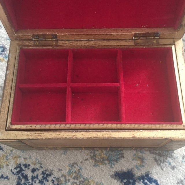Antique Italian Florentine Gold Music Box Jewelry Box - Image 6 of 11
