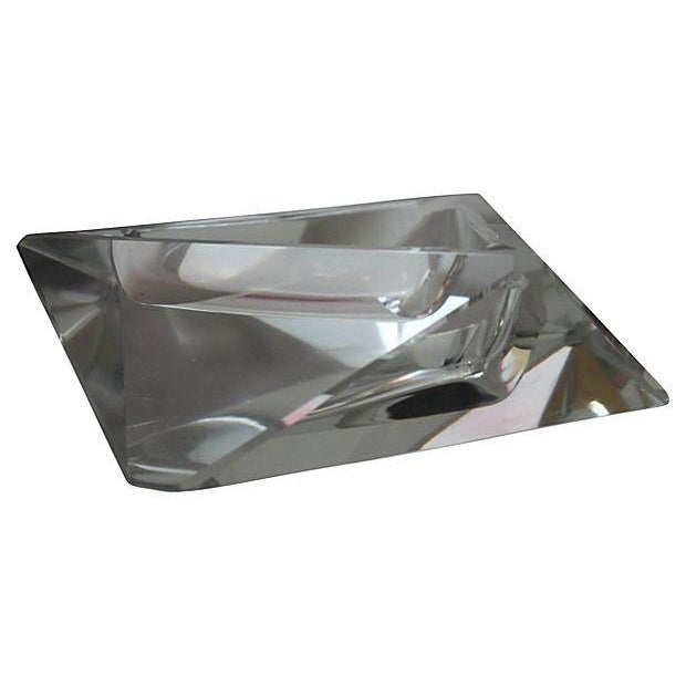 Triangular Lead Crystal Ashtray For Sale - Image 4 of 4